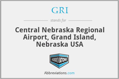 GRI - Central Nebraska Regional Airport, Grand Island, Nebraska USA