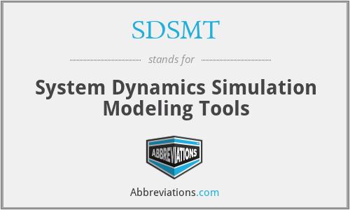SDSMT - System Dynamics Simulation Modeling Tools