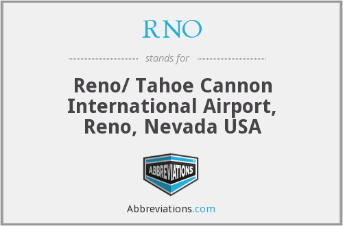 RNO - Reno/ Tahoe Cannon International Airport, Reno, Nevada USA