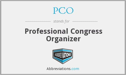 PCO - Professional Congress Organizer