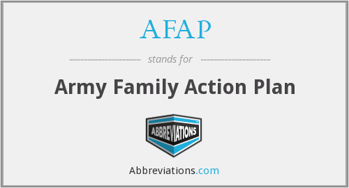 AFAP - Army Family Action Plan