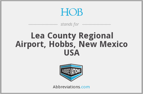HOB - Lea County Regional Airport, Hobbs, New Mexico USA