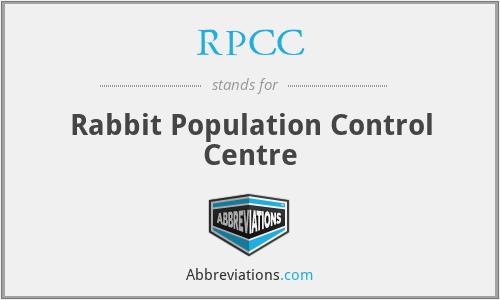 RPCC - Rabbit Population Control Centre