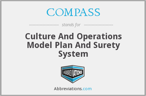COMPASS - Culture And Operations Model Plan And Surety System