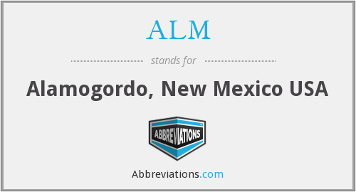 ALM - Alamogordo, New Mexico USA