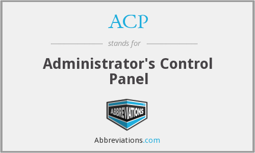 ACP - Administrator's Control Panel
