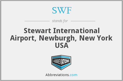 SWF - Stewart International Airport, Newburgh, New York USA