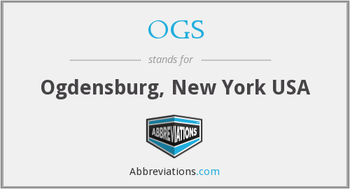 OGS - Ogdensburg, New York USA