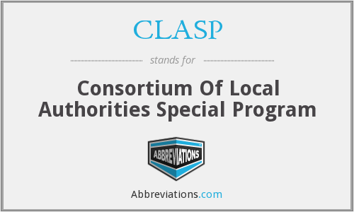 CLASP - Consortium Of Local Authorities Special Program