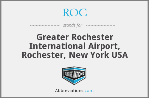 ROC - Greater Rochester International Airport, Rochester, New York USA
