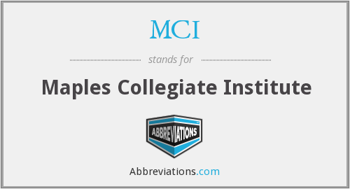 MCI - Maples Collegiate Institute