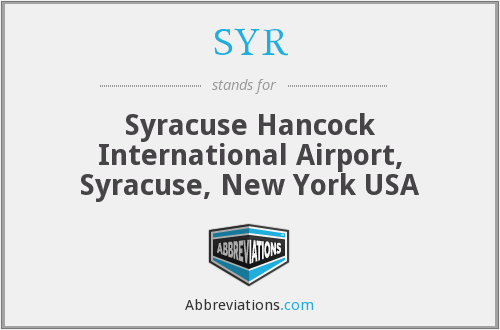 SYR - Syracuse Hancock International Airport, Syracuse, New York USA