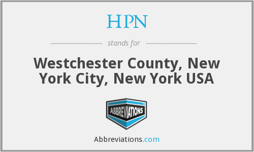 HPN - Westchester County, New York City, New York USA