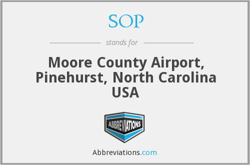 SOP - Moore County Airport, Pinehurst, North Carolina USA