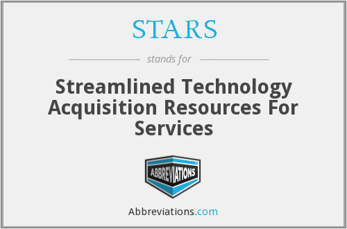 STARS - Streamlined Technology Acquisition Resources For Services