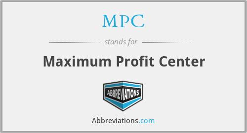 MPC - Maximum Profit Center