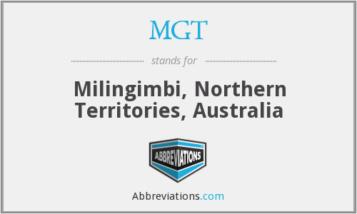 MGT - Milingimbi, Northern Territories, Australia