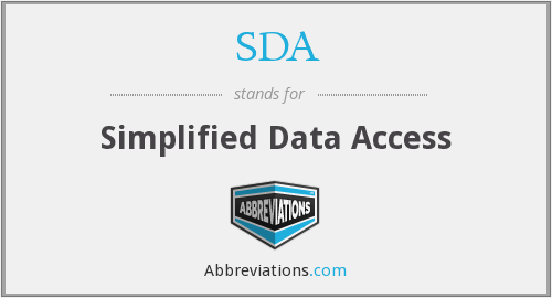 SDA - Simplified Data Access