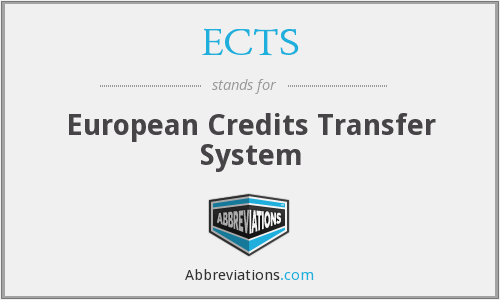 ECTS - European Credits Transfer System