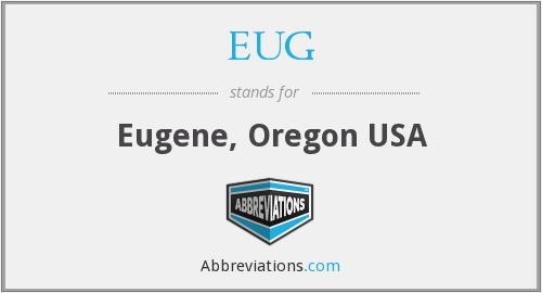 EUG - Eugene, Oregon USA