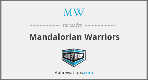 MW - Mandalorian Warriors