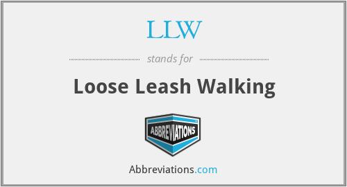 LLW - Loose Leash Walking
