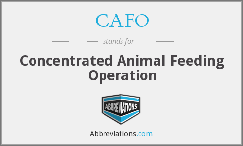 What does CAFO stand for?