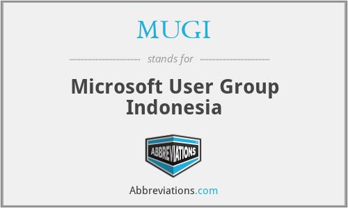 MUGI - Microsoft User Group Indonesia