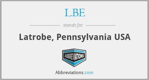 LBE - Latrobe, Pennsylvania USA