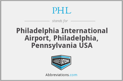 PHL - Philadelphia International Airport, Philadelphia, Pennsylvania USA