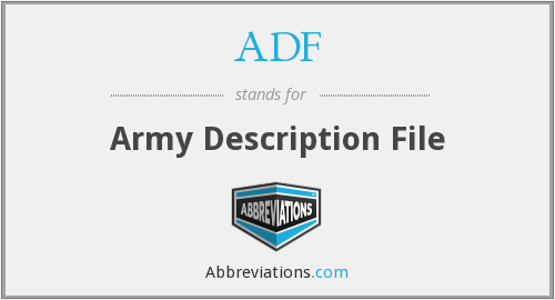 ADF - Army Description File