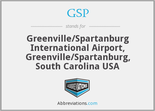 GSP - Greenville/Spartanburg International Airport, Greenville/Spartanburg, South Carolina USA
