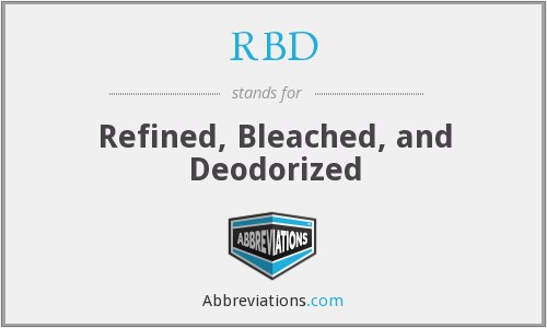 RBD - Refined, Bleached, and Deodorized