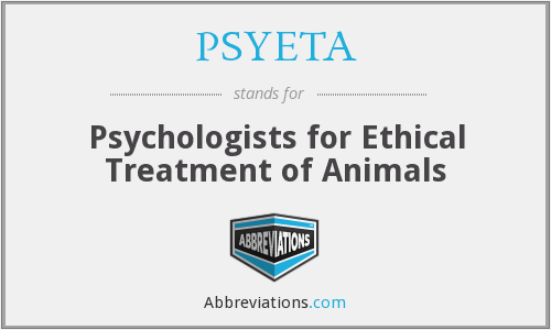 PSYETA - Psychologists for Ethical Treatment of Animals