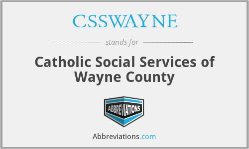 CSSWAYNE - Catholic Social Services of Wayne County