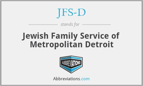 JFS-D - Jewish Family Service of Metropolitan Detroit