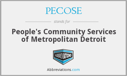 PECOSE - People's Community Services of Metropolitan Detroit