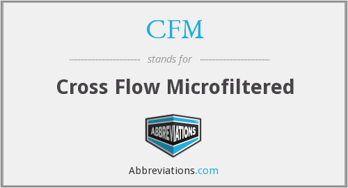 CFM - Cross Flow Microfiltered