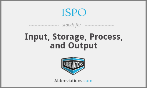 ISPO - Input, Storage, Process, and Output