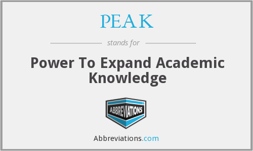 PEAK - Power To Expand Academic Knowledge