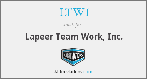 LTWI - Lapeer Team Work, Inc.