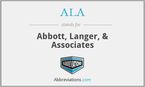 ALA - Abbott, Langer, & Associates