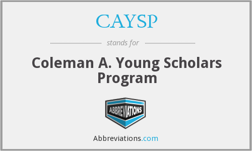 CAYSP - Coleman A. Young Scholars Program