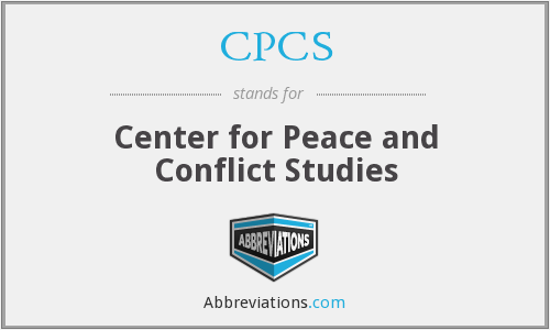 CPCS - Center for Peace and Conflict Studies
