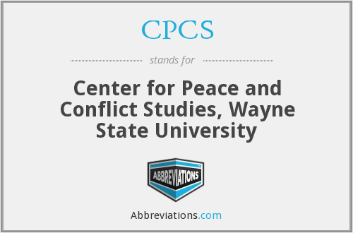 CPCS - Center for Peace and Conflict Studies, Wayne State University