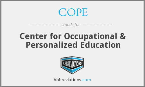 COPE - Center for Occupational & Personalized Education