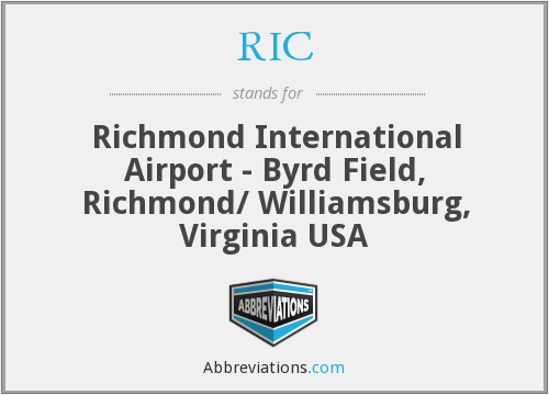 RIC - Richmond International Airport - Byrd Field, Richmond/ Williamsburg, Virginia USA