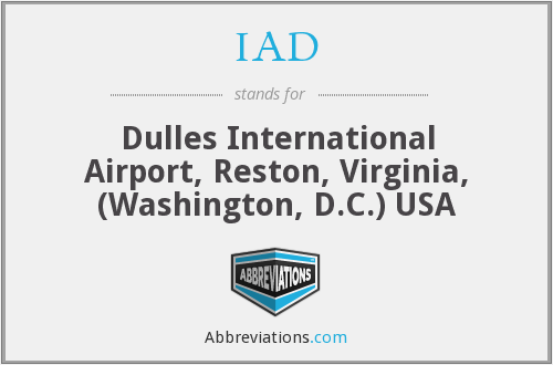 IAD - Dulles International Airport, Reston, Virginia, (Washington, D.C.) USA