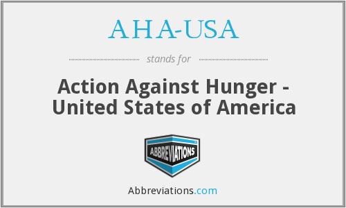 AHA-USA - Action Against Hunger - United States of America