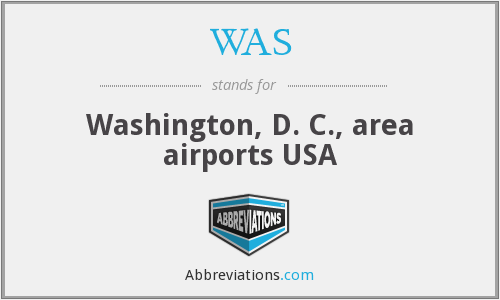 WAS - Washington, D. C., area airports USA